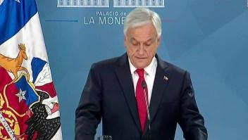 Piñera pide perdón y anuncia medidas económicas y sociales
