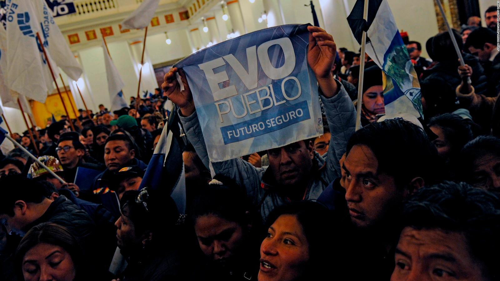 Morales cree que ganará las elecciones en Bolivia