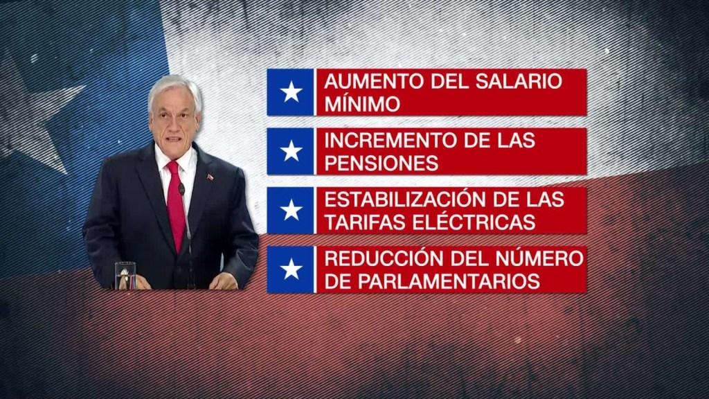 Chilenos dudan de la agenda social de Sebastián Piñera