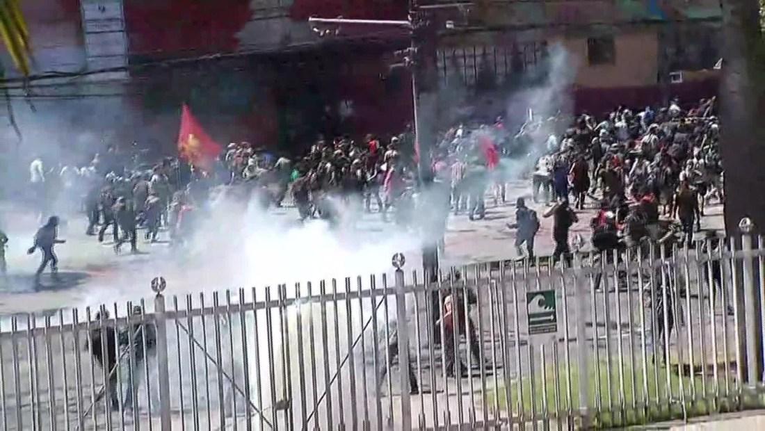 Desalojan el Congreso Nacional de Chile