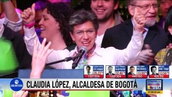 Claudia López: Agradecida por resultar electa alcaldesa de Bogotá