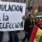 Tensas manifestaciones por resultados electorales en Bolivia