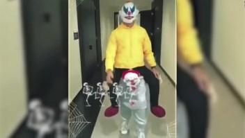 ¿Qué futbolista se disfrazó de payaso para Halloween?