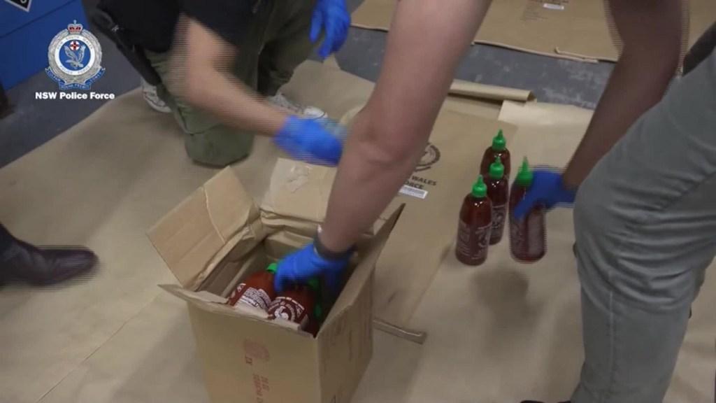 Australia: metanfetaminas en botellas de salsa picante