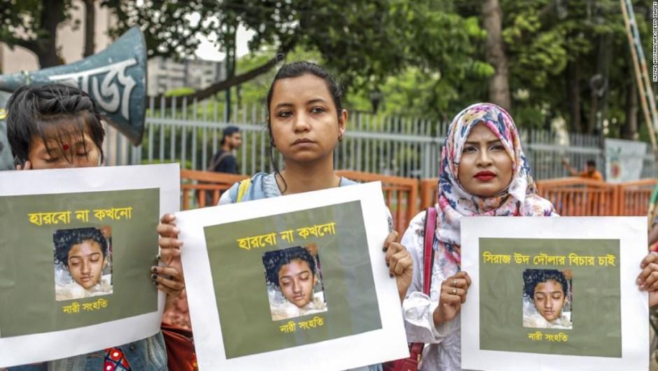 Condenan a muerte a 16 personas por asesinato de estudiante en Bangladesh