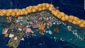Dispositivo limpiar plástico océanos
