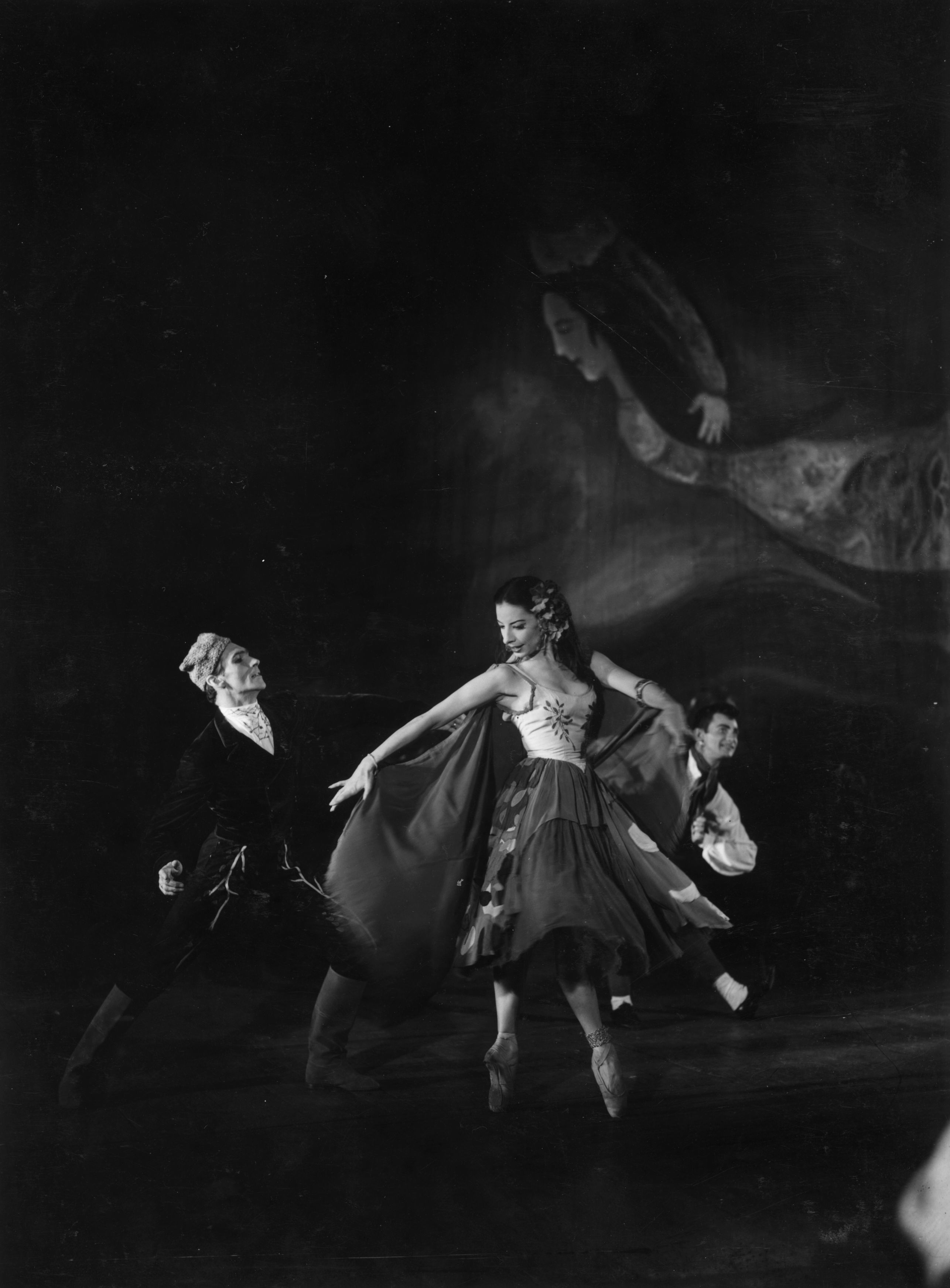 Choreographed by Leonid Massine, with decor by Marc Chagall to music by Tchaikovsky. (Photo by Baron/Getty Images)