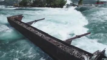 Un barco estuvo encallado por 101 años hasta que llegó una tormenta