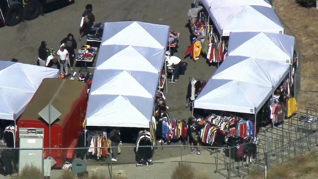 Impresionantes filas por venta de garaje de Chris Brown