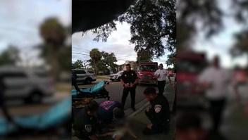 Policía salvó a un bebé que se asfixiaba