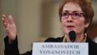 Trump critica a Yovanovitch mientras ella testificaba