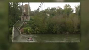 Adolescente muere tras colapso de un puente en Francia