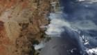 Australia: Imágenes satelitales muestran la fuerza de los incendios