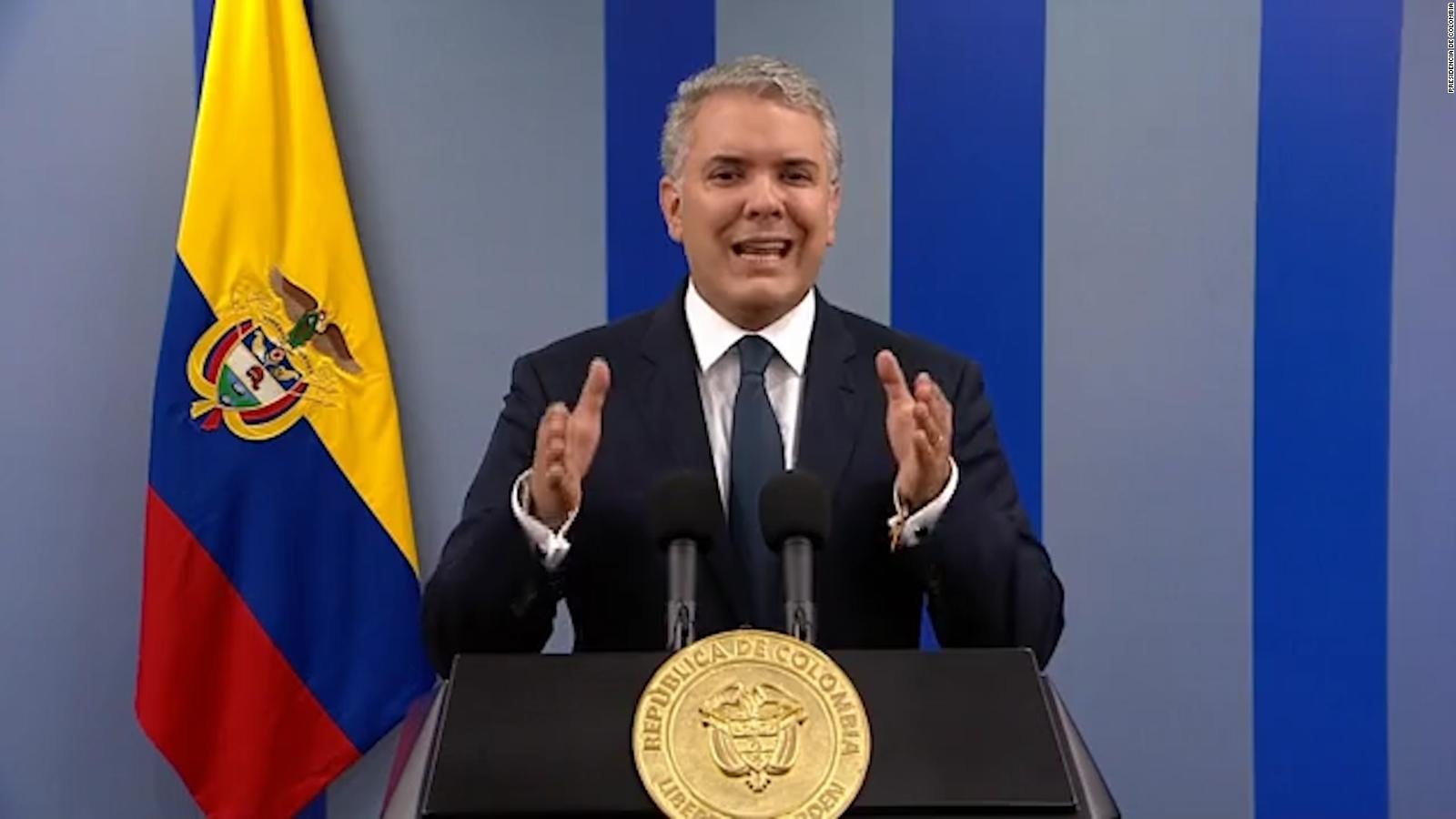 """Paro en Colombia: Iván Duque condena """"vandalismo"""" y dice que hay """"decenas""""  de capturados   Video   CNN"""