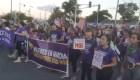 Puertorriqueñas también marcharon contra la violencia de género