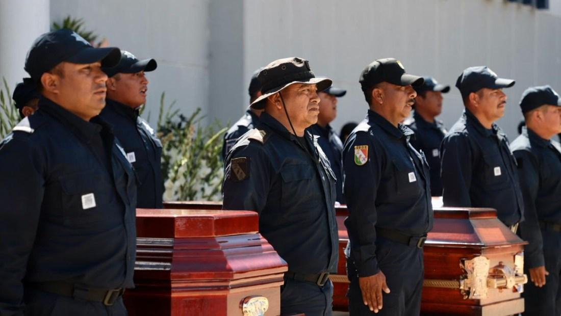 Policías de San Vicente Coatlán.