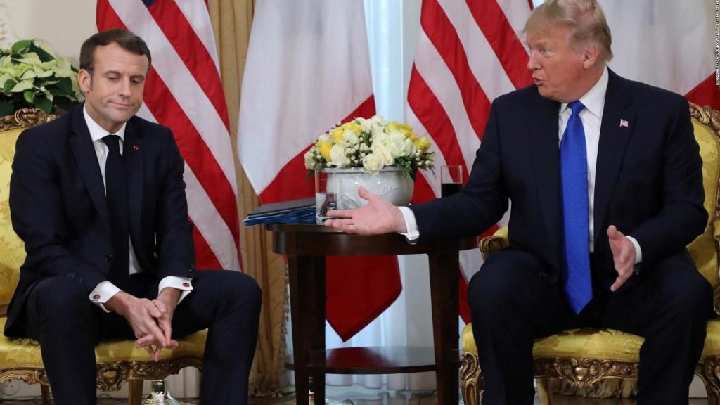 Trump y Macron exhiben sus diferencias