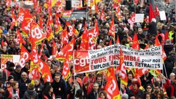 Jornada de manifestaciones y huelga en Francia