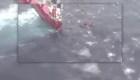Video muestra rescate de tripulación de barco averiado en el mar Egeo