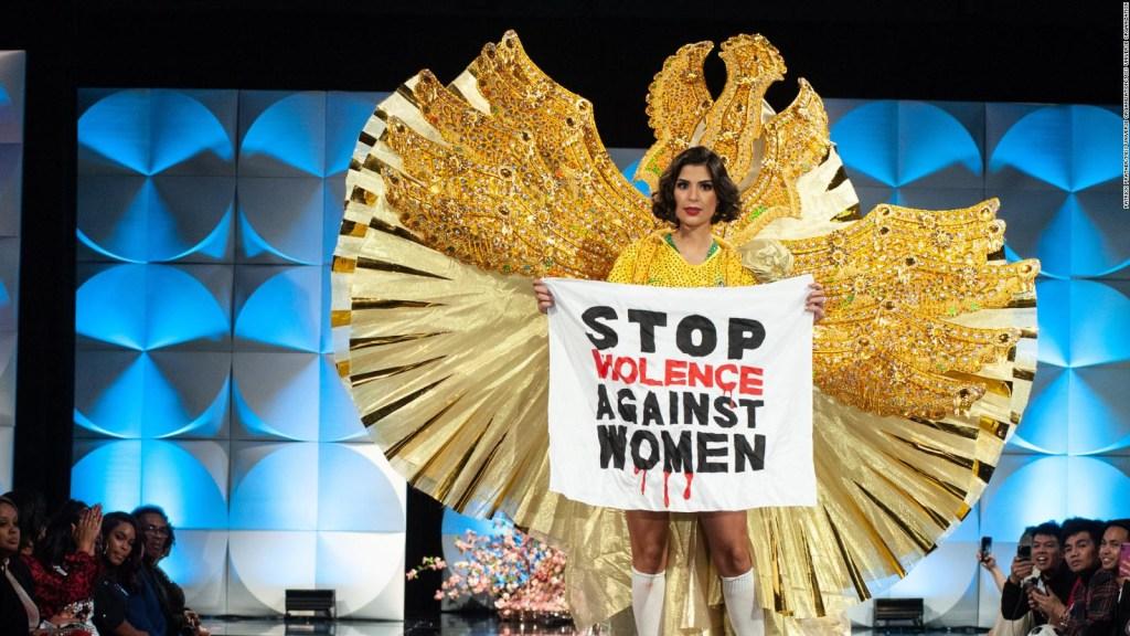 Las protestas con trajes típicos en Miss Universo