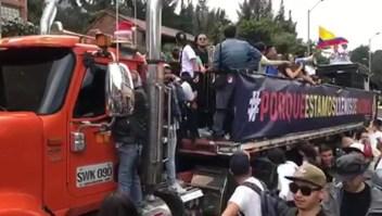 Artistas colombianos protestan contra el gobierno