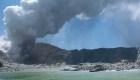 Erupción del volcán en Nueva Zelandia