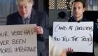 "Boris Johnson parodia ""Love Actually"" animando al brexit"