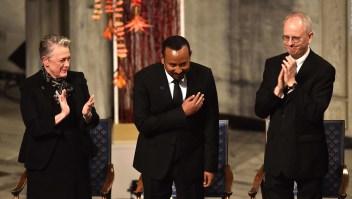 Ganadores del premio Nobel junto a élite y realeza sueca