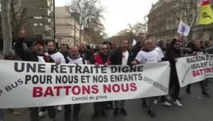 Nuevas protestas por reforma de pensiones en Francia
