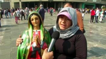 Fieles rinden tributo a la virgen de Guadalupe