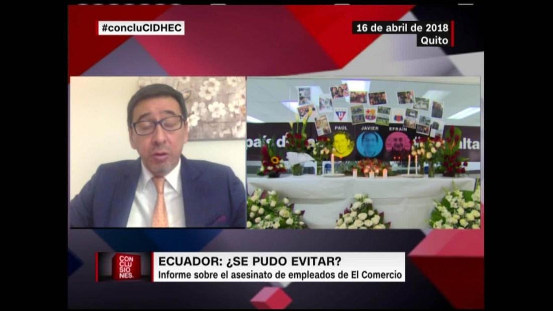Informe sobre el asesinato de empleados de El Comercio