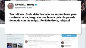 Lluvia de tuits de Trump contra Greta Thunberg