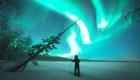 Registran una aurora boreal de 9 horas en Finlandia