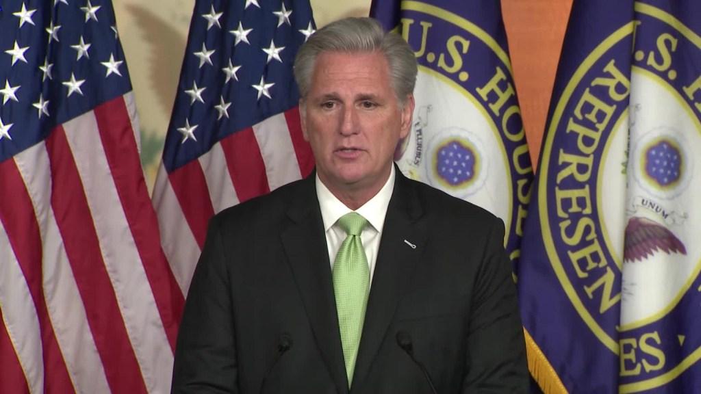 Pelosi está avergonzada, dice McCarthy