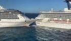 Dos cruceros chocaron en Cozumel