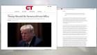 Influyente revista evangélica pide la destitución de Trump