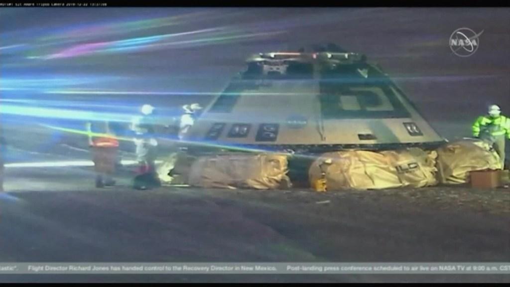 Boeing Starliner aterriza en Nuevo México