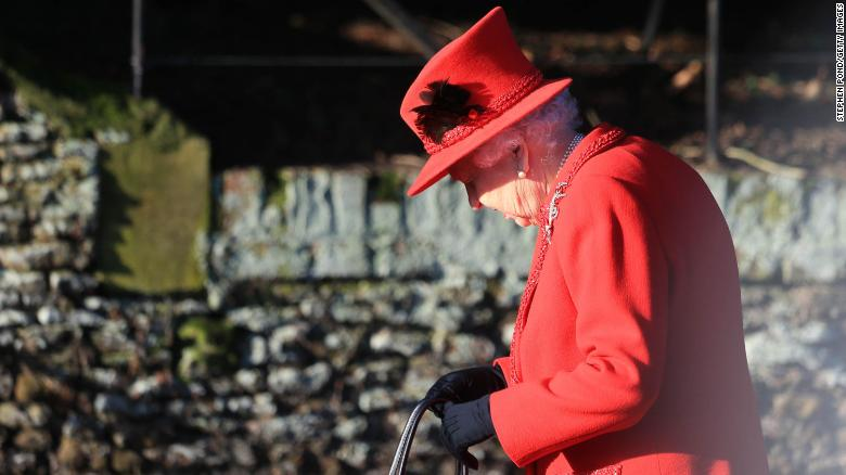 KING'S LYNN, ENGLAND - DECEMBER 25:  Queen Elizabeth II attends the Christmas Day Church service at Church of St Mary Magdalene on the Sandringham estate on December 25, 2019 in King's Lynn, United Kingdom. (Photo by Stephen Pond/Getty Images)