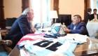 Juntos Diego Maradona y Alberto Fernández