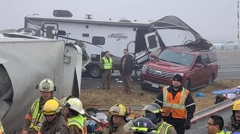 Due to the Dense Fog a major accident earlier today on U.S. Highway 84 involving several vehicles, including injuries to a DPS Trooper.