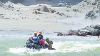 Muertes turistas volcán