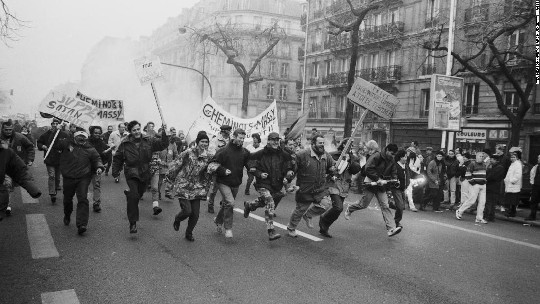 Huelgas Francia reforma pensiones 1995
