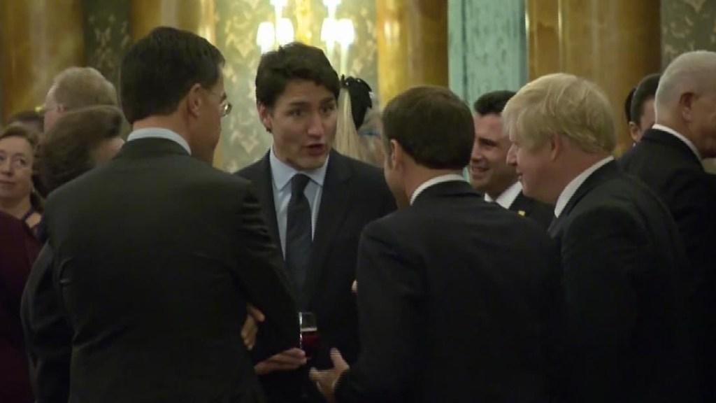 Video líderes mundiales OTAN bromas Trump