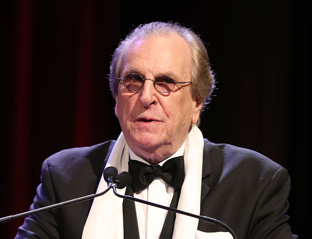 """NEW YORK, NY - MARCH 30: Academy Award nominee for """"Do the Right Thing,"""" actor, singer Danny Aiello speaks at the 57th Annual New York Emmy awards at Marriott Marquis Times Square on March 30, 2014 in New York City. (Photo by Neilson Barnard/Getty Images)"""