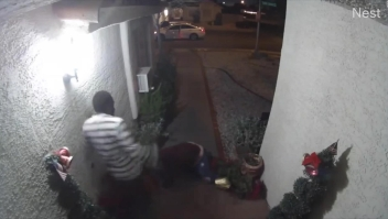 La grabación de un aparente secuestro