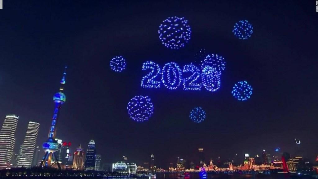 Drones reemplazan fuegos artificiales en China