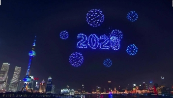 Drones reemplazan fuegos artificiales en China