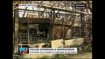 Sospechosos detenidos por incendio en zoológico alemán