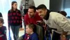 Messi y Suárez fueron los Reyes Magos de estos niños