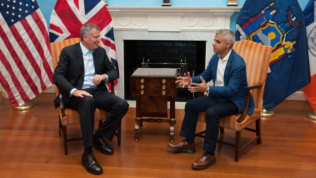 Alcaldes de Nueva York y Londres se unen por el medio ambiente